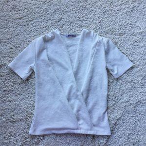 Zara White short sleeve Top